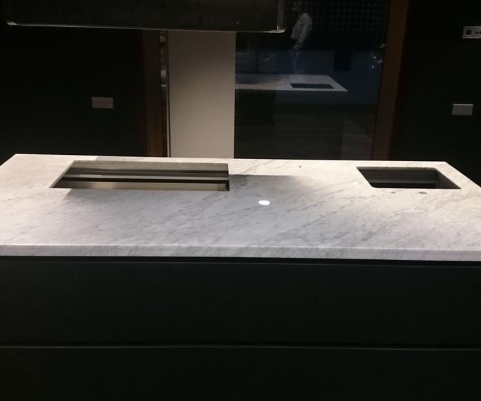 Encimeras de marmol instaladas