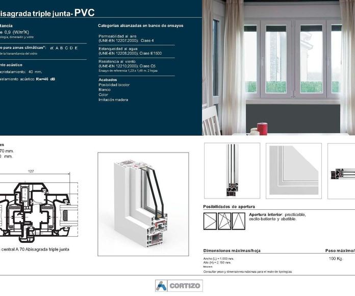 A 70 Triple junta - PVC: Catálogo de Jgmaluminio