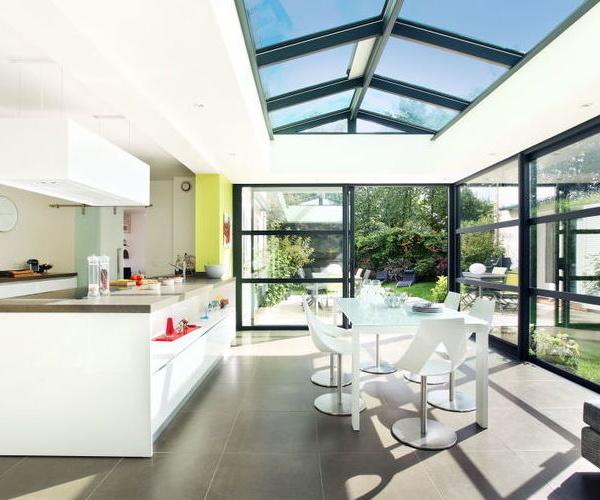 Cerramiento y techo de aluminio