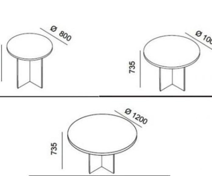 Mesa económica para reuniones redonda de 120 cm. serie Solber : Catálogo de productos de Despatx