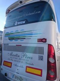 Autobuses para bodas en Granada alquilados por Autocares Martín Pérez con conductor
