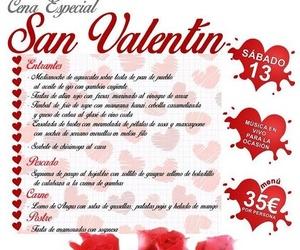 Cena especial San Valentín