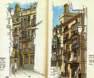 Dentista Cádiz Javier Pérez disfruta con urban sketchers