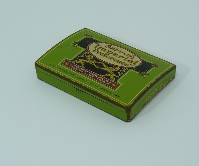 Lata antigua inglesa verde: Artículos  de Ruzafa Vintage