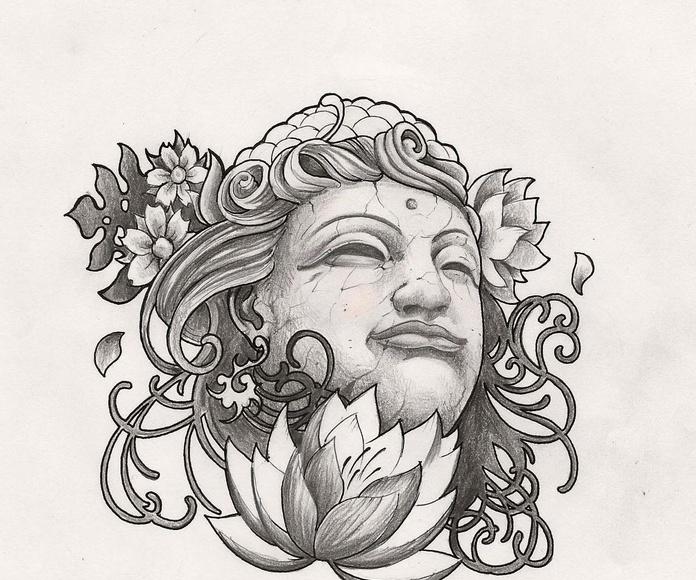 Tatuajes en La Madre Tattoo. Cara Hindú