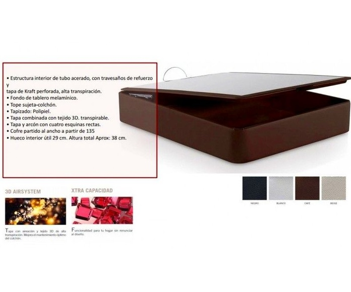 CANAPÉ ABATIBLE MODELO STYL-BOX ALTA CAPACIDAD