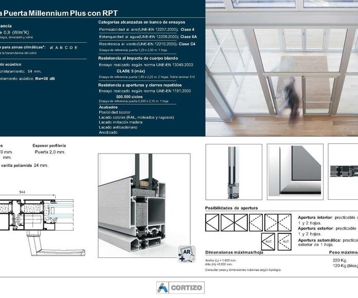 Puerta Millennium Plus 70 RPT: Catálogo de Jgmaluminio
