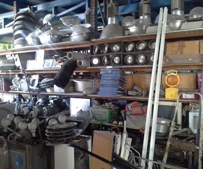motores electricos, lamparas, pantallas de ordenador, focos industriales y para parcelas, ...