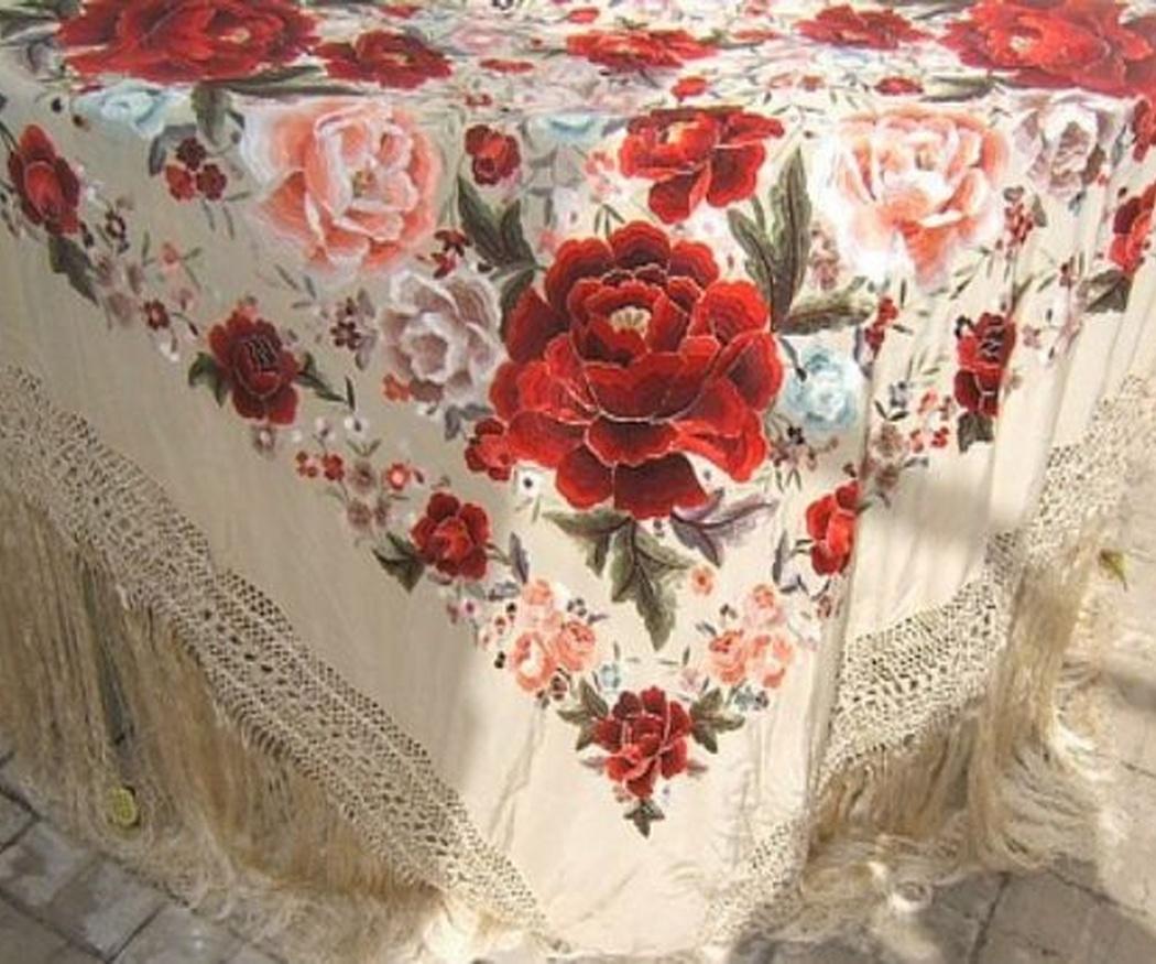 El bordado del mantón
