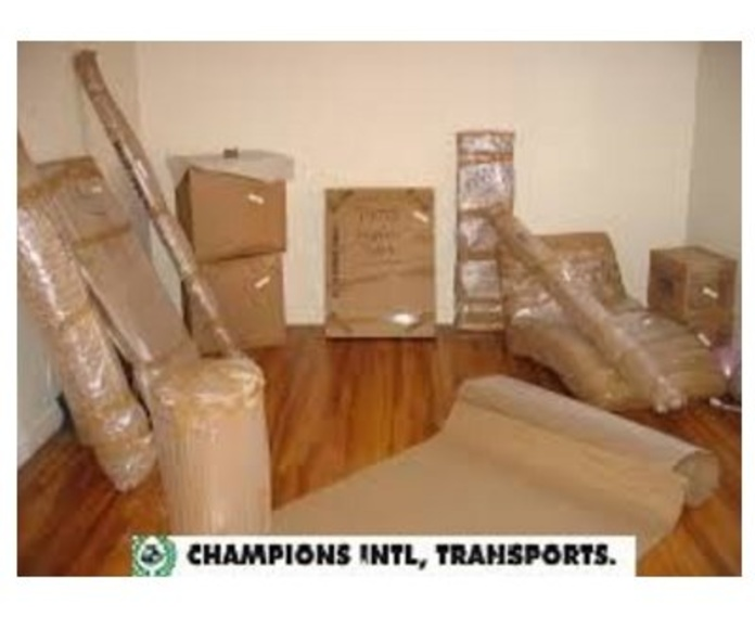 Mudanza nacional: Servicios de Champions International Transports & Moving