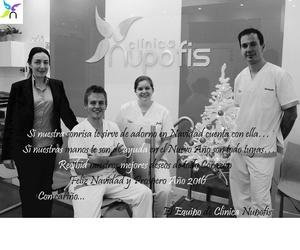 Feliz Navidad 2015 equipo clínica Nupofis