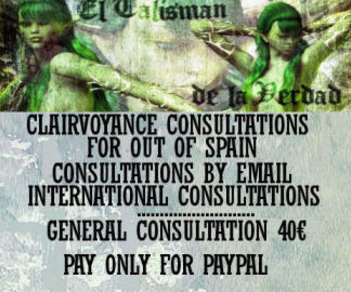 CONSULTATIONS FOR OUT OF SPAIN, ONLY, INTERNATIONAL, GENERAL FOR 40€