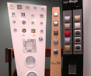 Exposición de elementos eléctricos del hogar