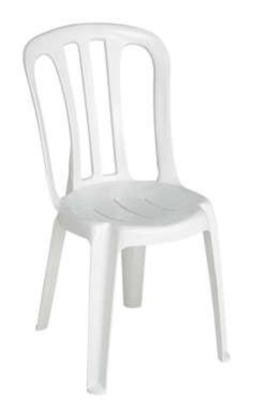 SILLA RESINA COLOR BLANCO }}