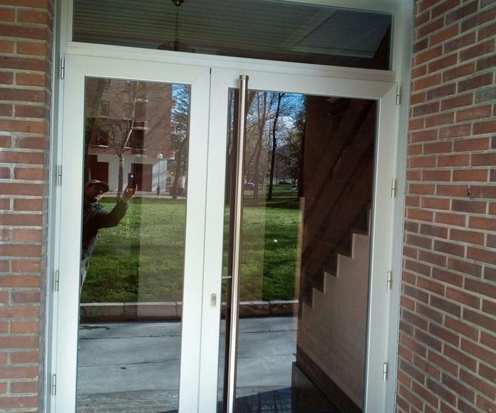 Puertas de garaje de entrada y de comunidad: Servicios de Zurgal Aluminios, S.L.