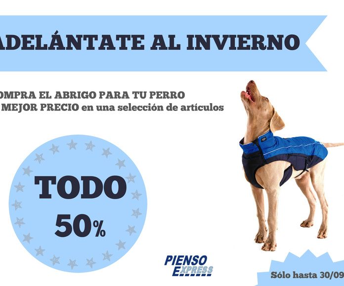 Abrigos para perros en Tienda de mascotas Pienso Express Arganzuela