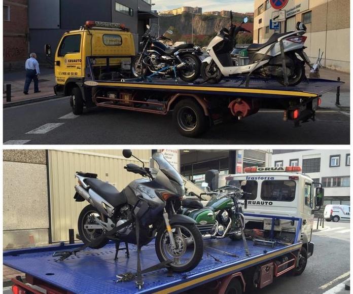 Motos y ciclomotores en plataforma