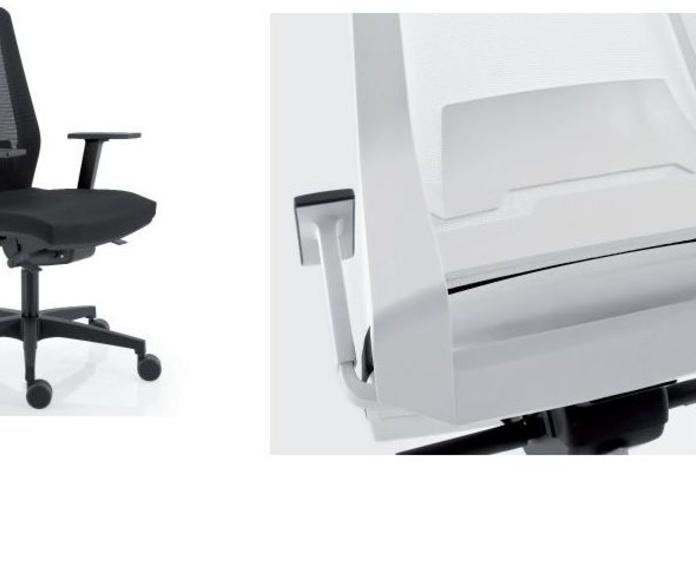 Silla ergonómica elevable y regulación lumbar, respaldo malla negra.NOVEDAD