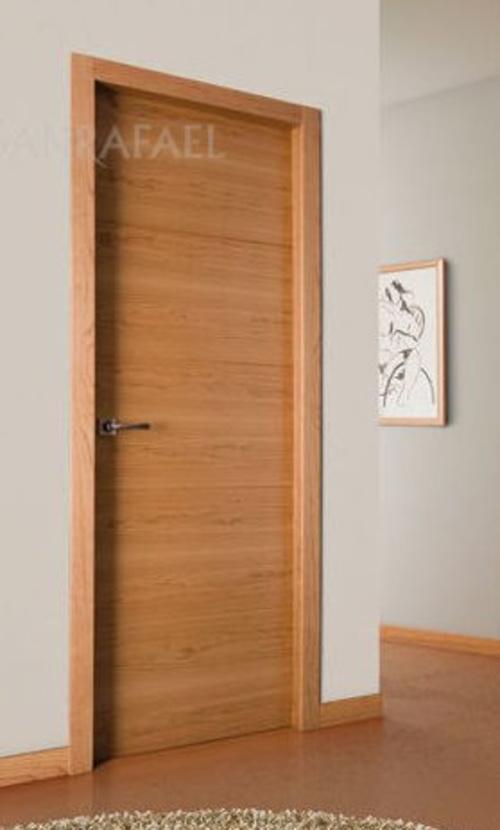 Puerta de madera de cerezo