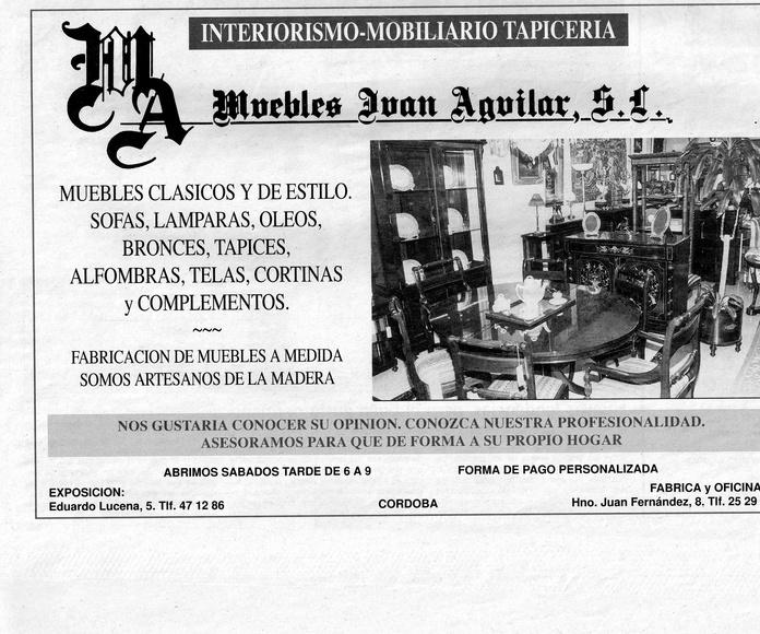 """Anuncio """"Muebles Juan Aguilar"""" Diario Córdoba Marzo 1996"""