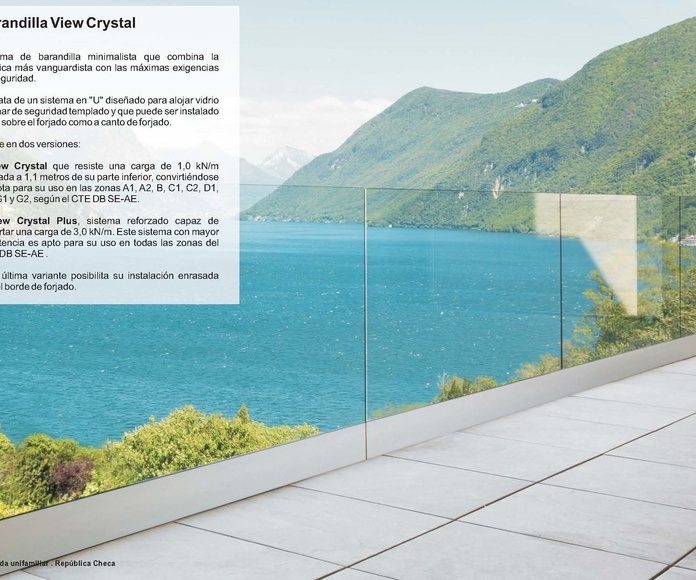 Barandilla View Crystal: Catálogo de Jgmaluminio