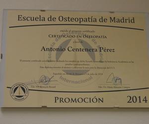 Certificado de la escuela de osteopatía de Madrid