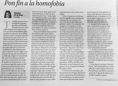 PON FIN A LA HOMOFOBIA