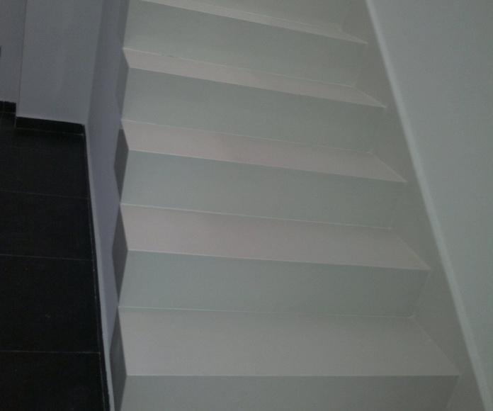 escalera de 16 cm hecha a inglete