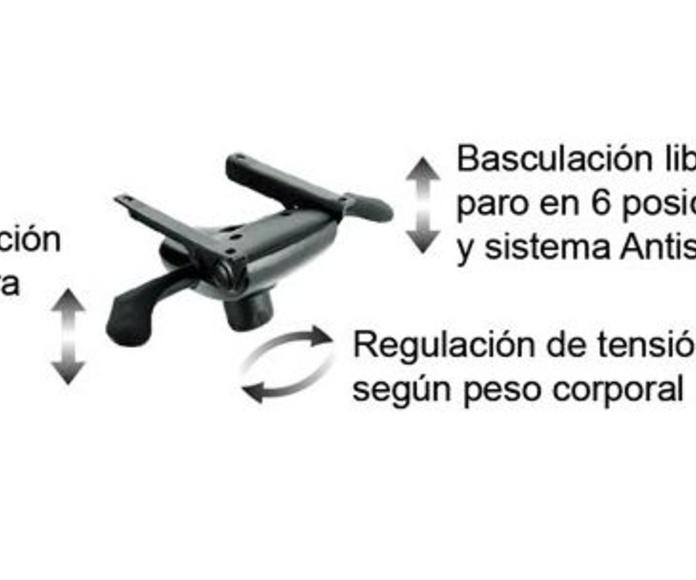 Regulación de altura y basculante multiposicional