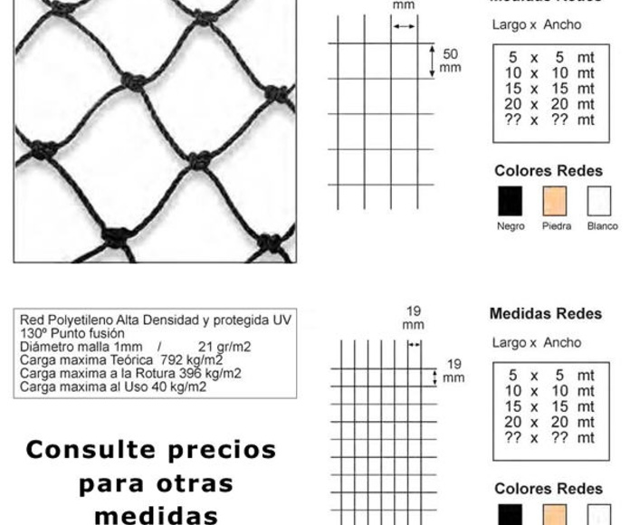 Redes control de aves: Catálogo de Floresalud Control de Plagas Canarias
