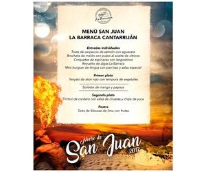 Menú San Juan