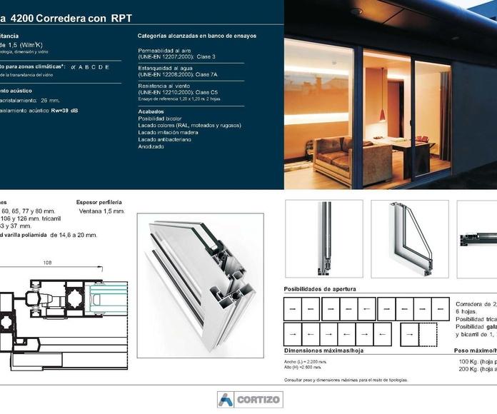 4200 Corredera RPT: Catálogo de Jgmaluminio