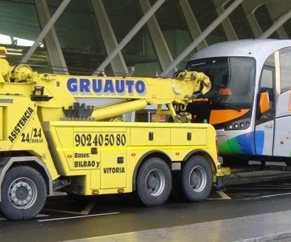 Grúas para autobuses en Vizcaya