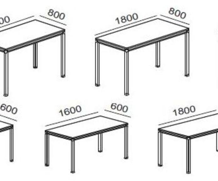 diferentes medidas posibles para mesas serie metrika