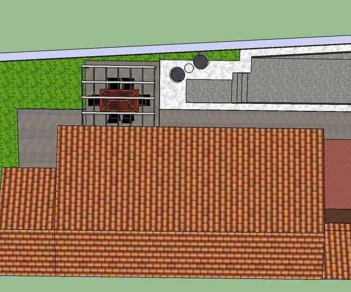 Diseño 3D piscina Obra Paracuellos del Jarama