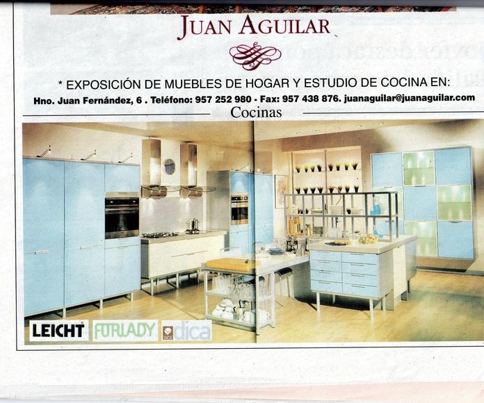 """Anuncio de cocinas """"Juan Aguilar"""" Diario Córdoba Febrero 2005"""