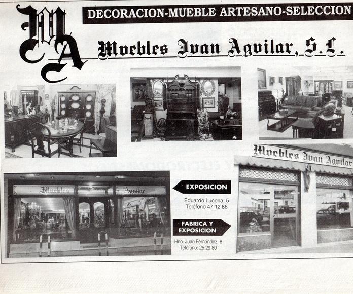 """Anuncio """"Muebles Juan Aguilar"""" Diario Córdoba Marzo 1992"""