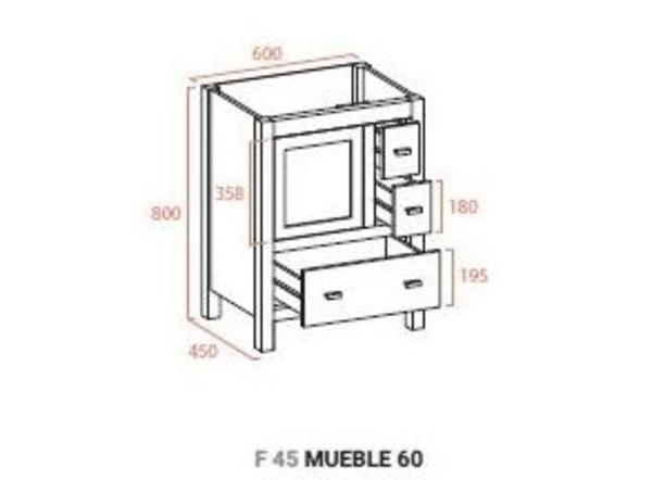 Muebles De Baño Torvisco:Mueble de baño Torvisco linea NATURA modelo LOIRA f-45 mueble de 60