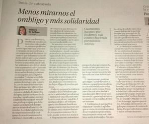 MENOS MIRARNOS EL OMBLIGO Y MÁS SOLIDARIDAD