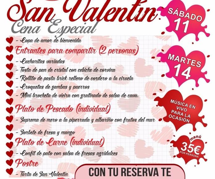 Oferta menú día San Valentín