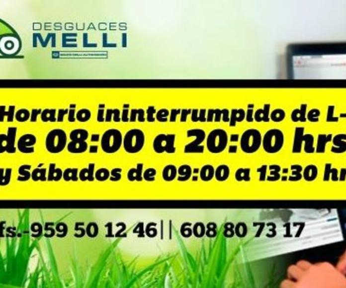 Horario de Atención Telefónica Desguace