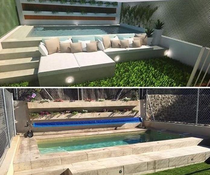 diseño de jardin/ construcción de piscinas
