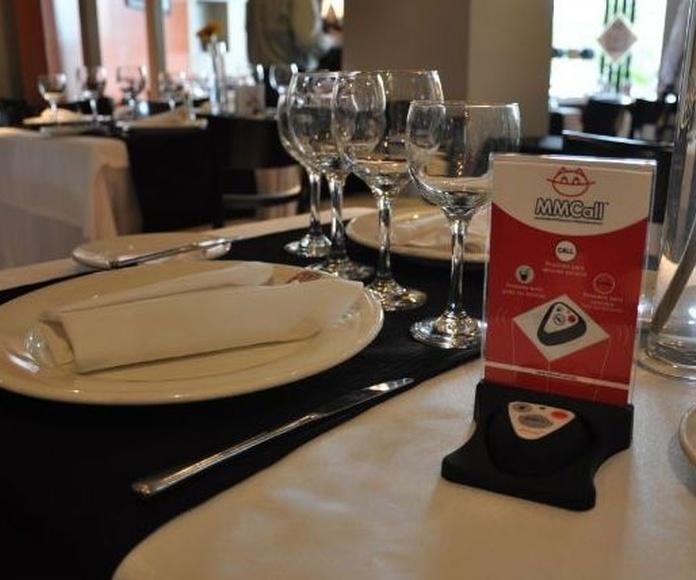 Nuevos Pulsadores para llamar a los camarer@s en Restaurante La Tasquita del Sevillano