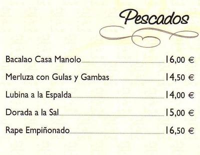 Todos los productos y servicios de Cocina tradicional: Casa Manolo Restaurante