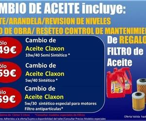 Oferta Cambio de Aceite