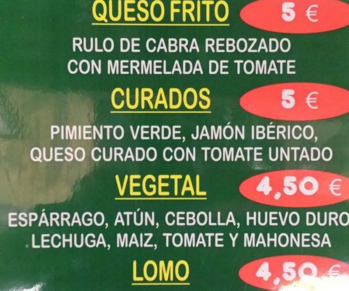 Bocadillos especiales Zaragoza