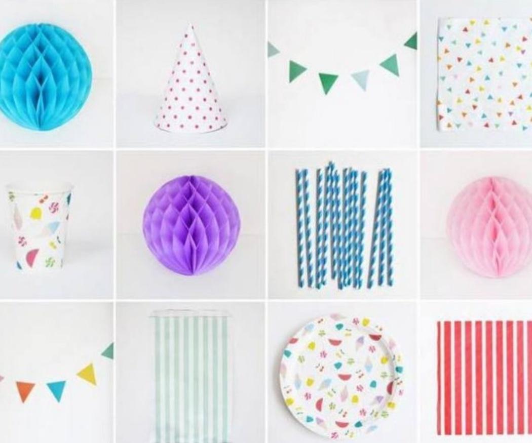 Vasos y platos de diseño para decorar tu evento
