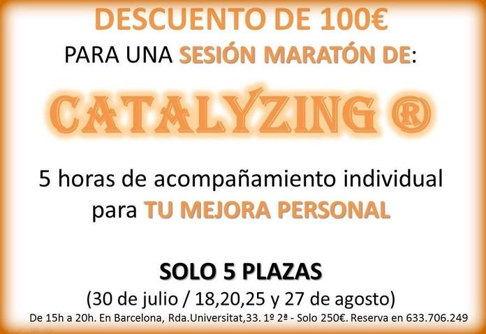 Descuento 100€ sesión Maratón Catalyzing|default:seo.title }}