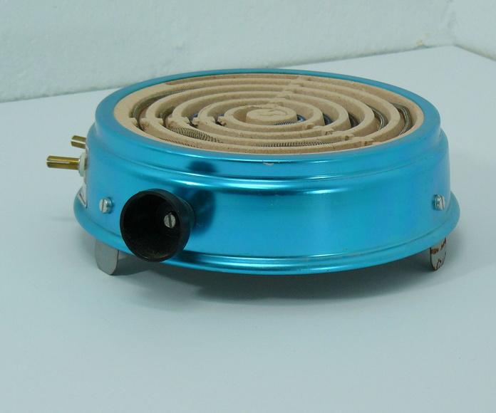 Antiguo hornillo de aluminio azul: Artículos  de Ruzafa Vintage