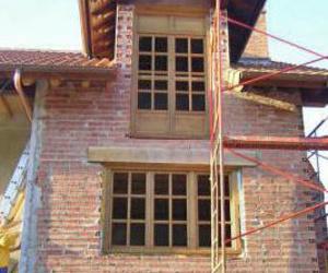 Estructuras de madera para chalé